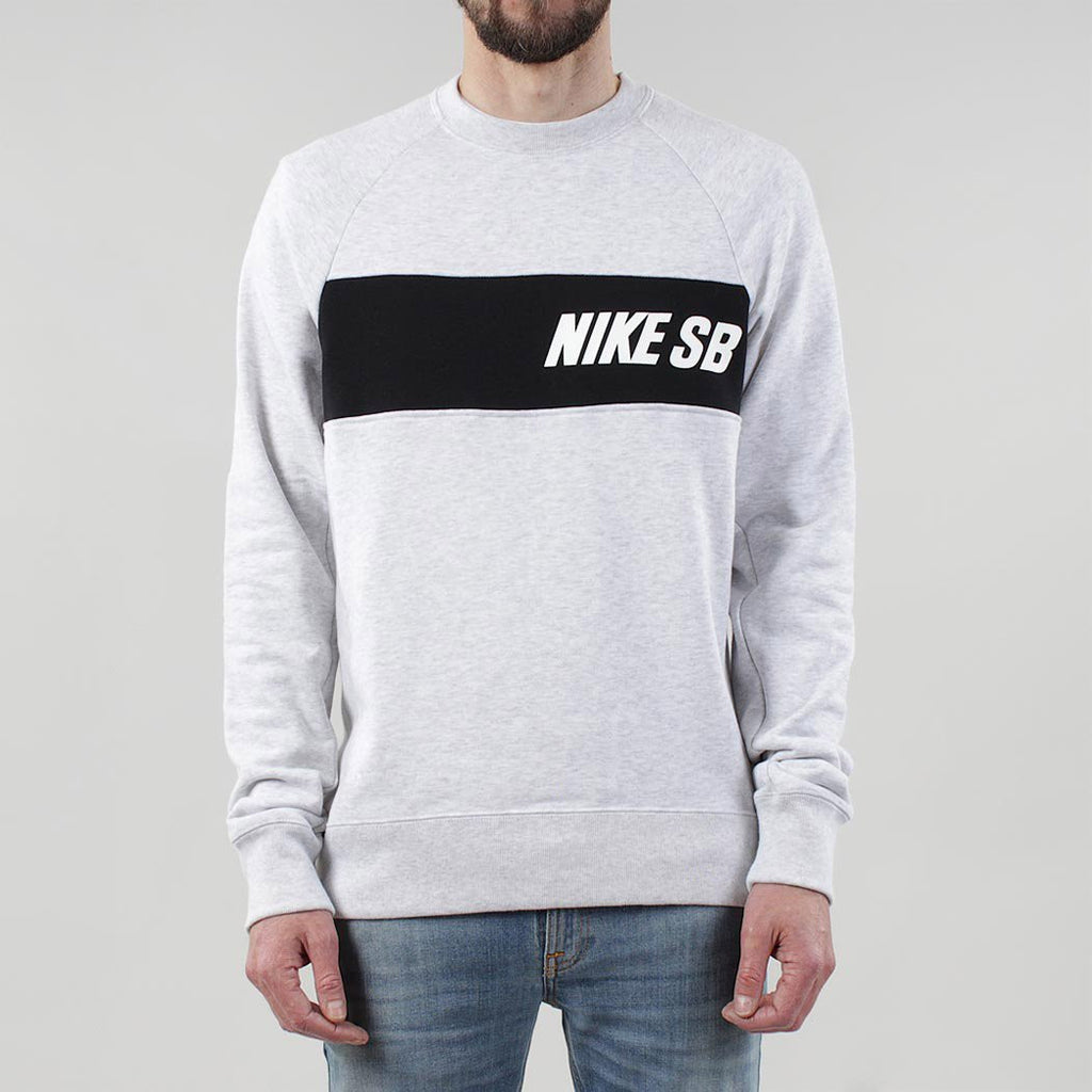 Nike Sb Everett Crewneck Sweatshirt Birch Heather Black Uidev