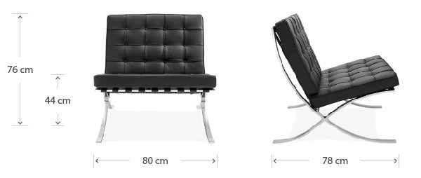 Barcelona chair dimensions