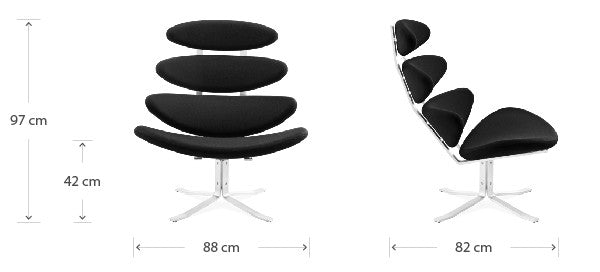 Corona chair dimensions