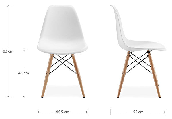 DSW chair dimensions
