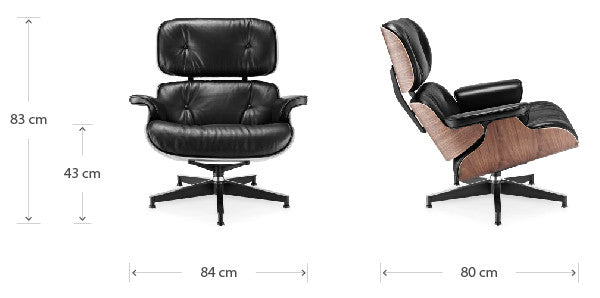 Eames Lounge chair dimensions