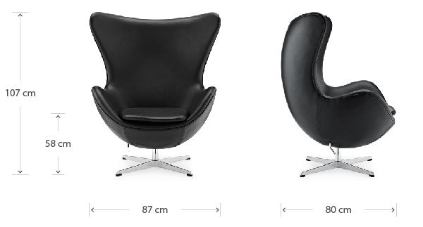 Egg chair dimensions
