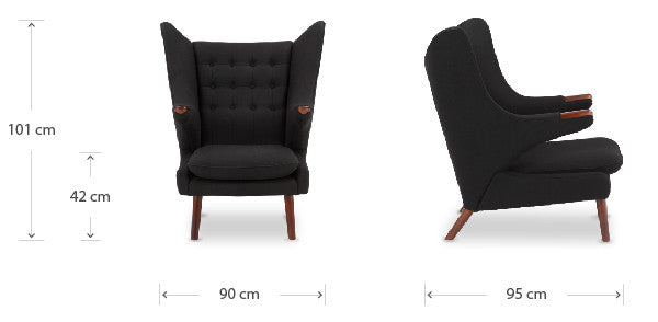 Papa Bear chair dimensions