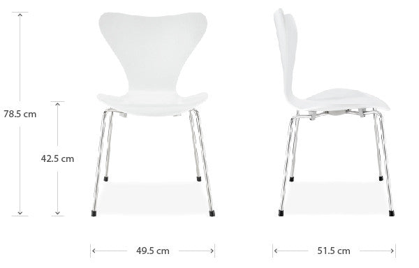 Series 7 chair dimensions