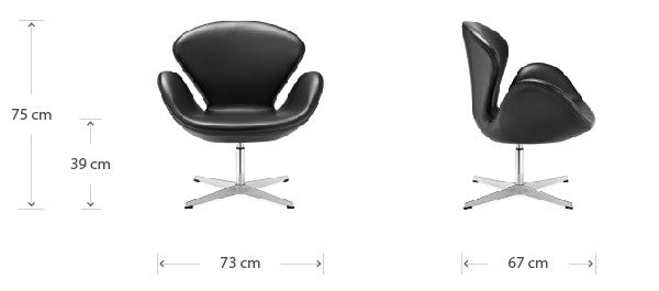 Swan chair dimensions