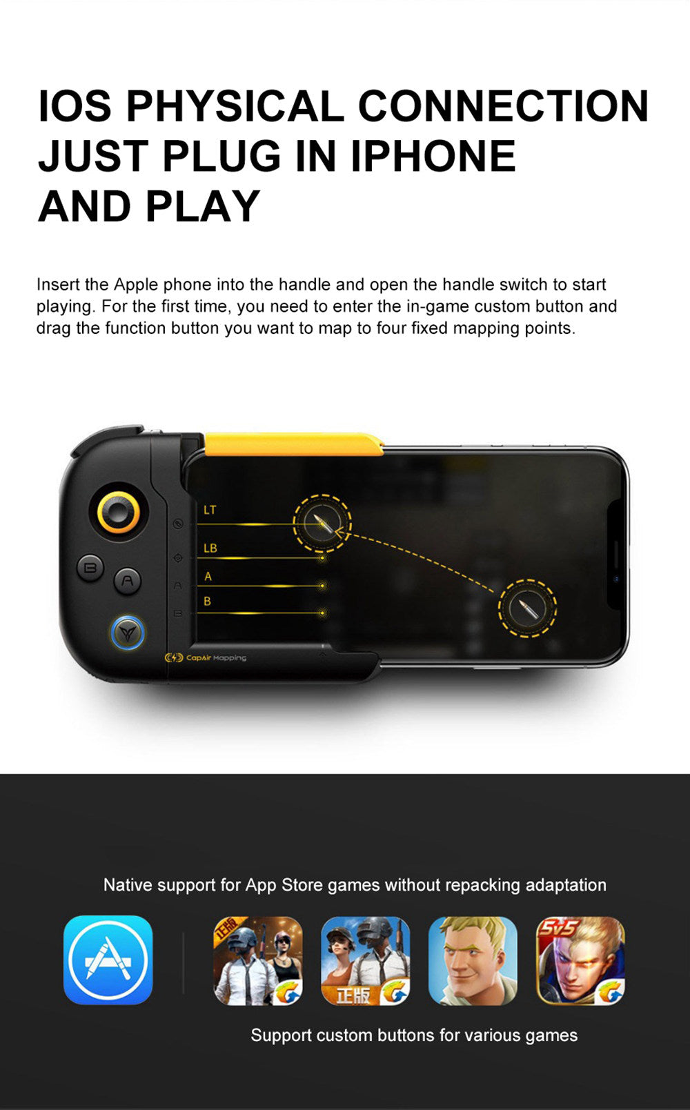 New generation WASP Gamepad Portable Mini GamePad For ios system Apple mobile phone Bluetooth Remote Controller Gamepad Accessories