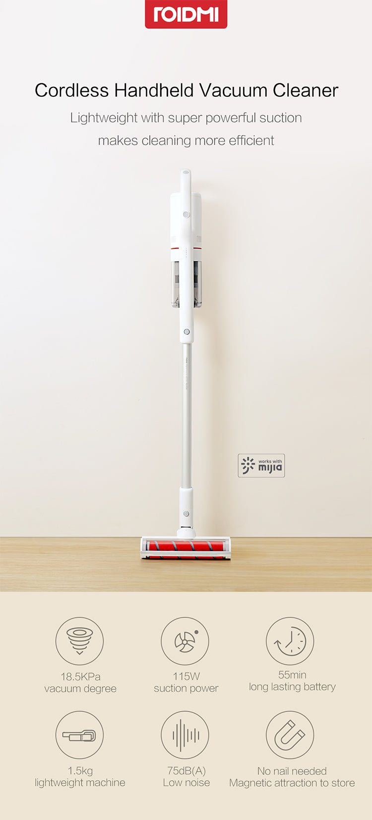 Roidmi wireless vacuum cleaner in india