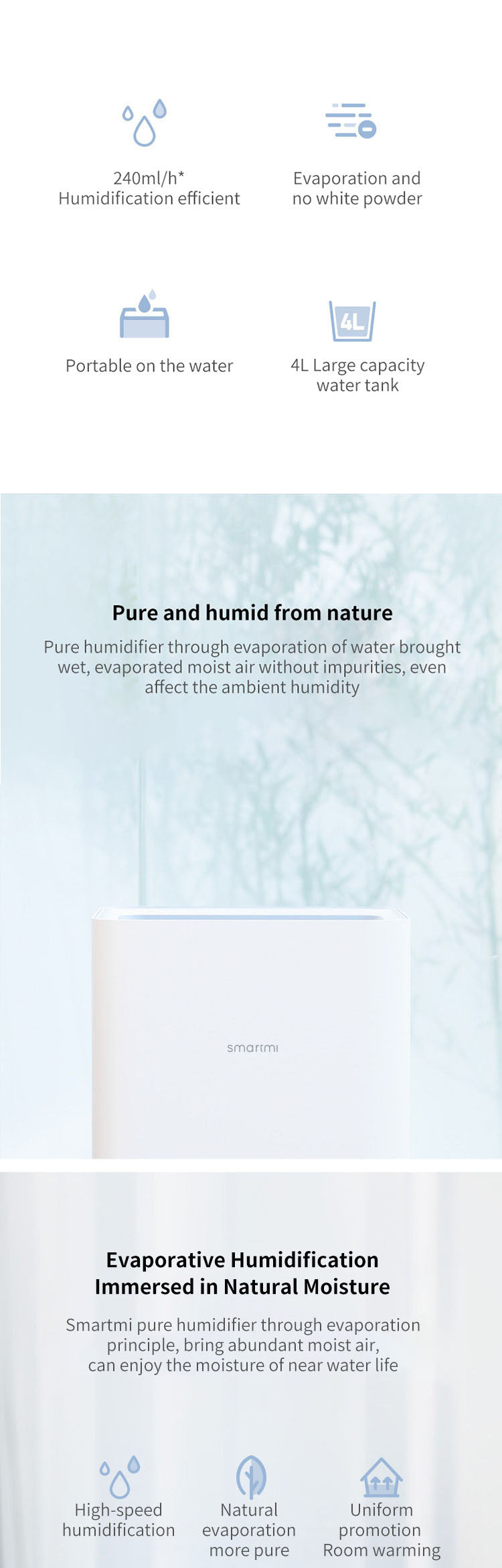 XIAOMI SMARTMI PURE AIR HUMIDIFIER 4L