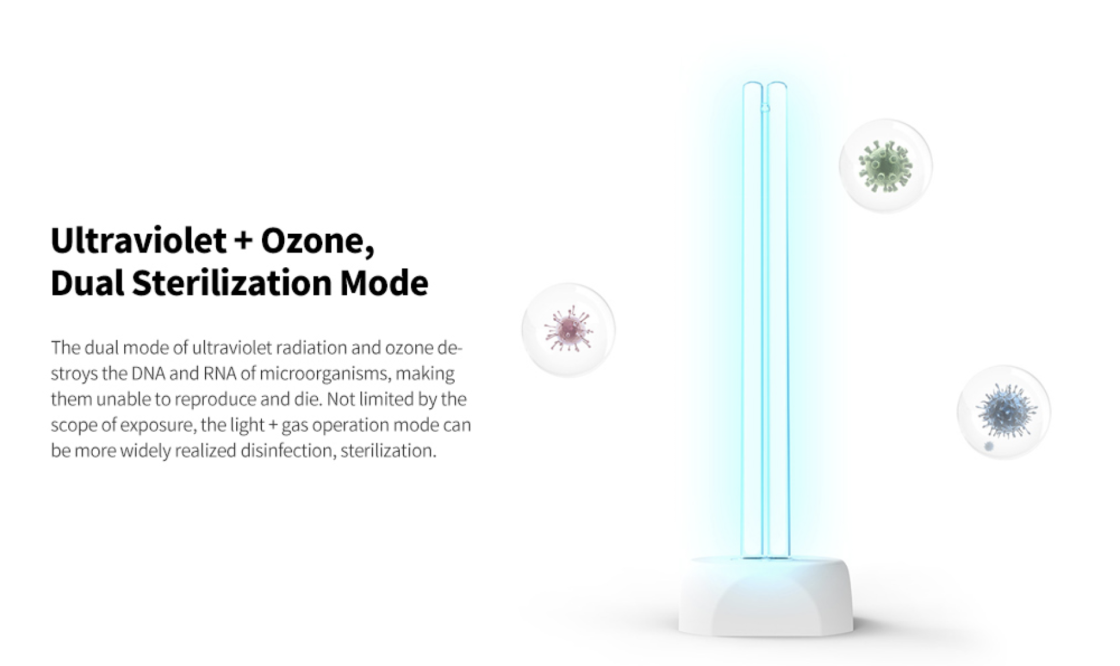 Xiaomi huayi mijia Household Disinfection Germicidal Lamp UV Ozone Sterilization Light 38W 360