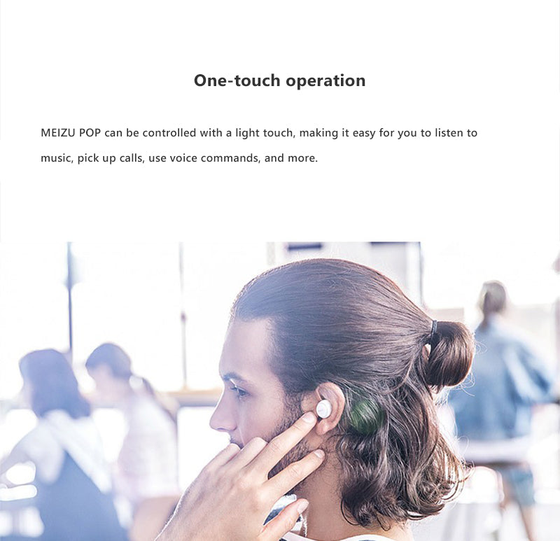 MEIZU POP Wireless Bluetooth Earphones White india