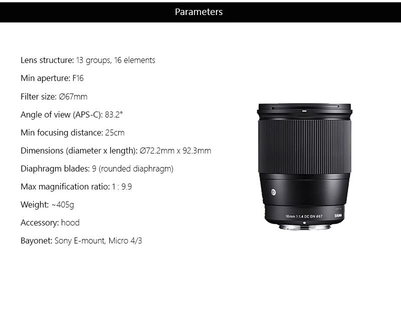 Sigma 16mm price in india