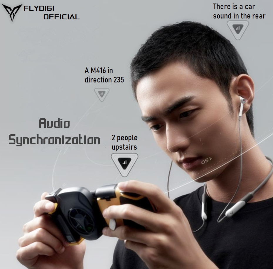 flydigi cyberfox low latency neckband earphones