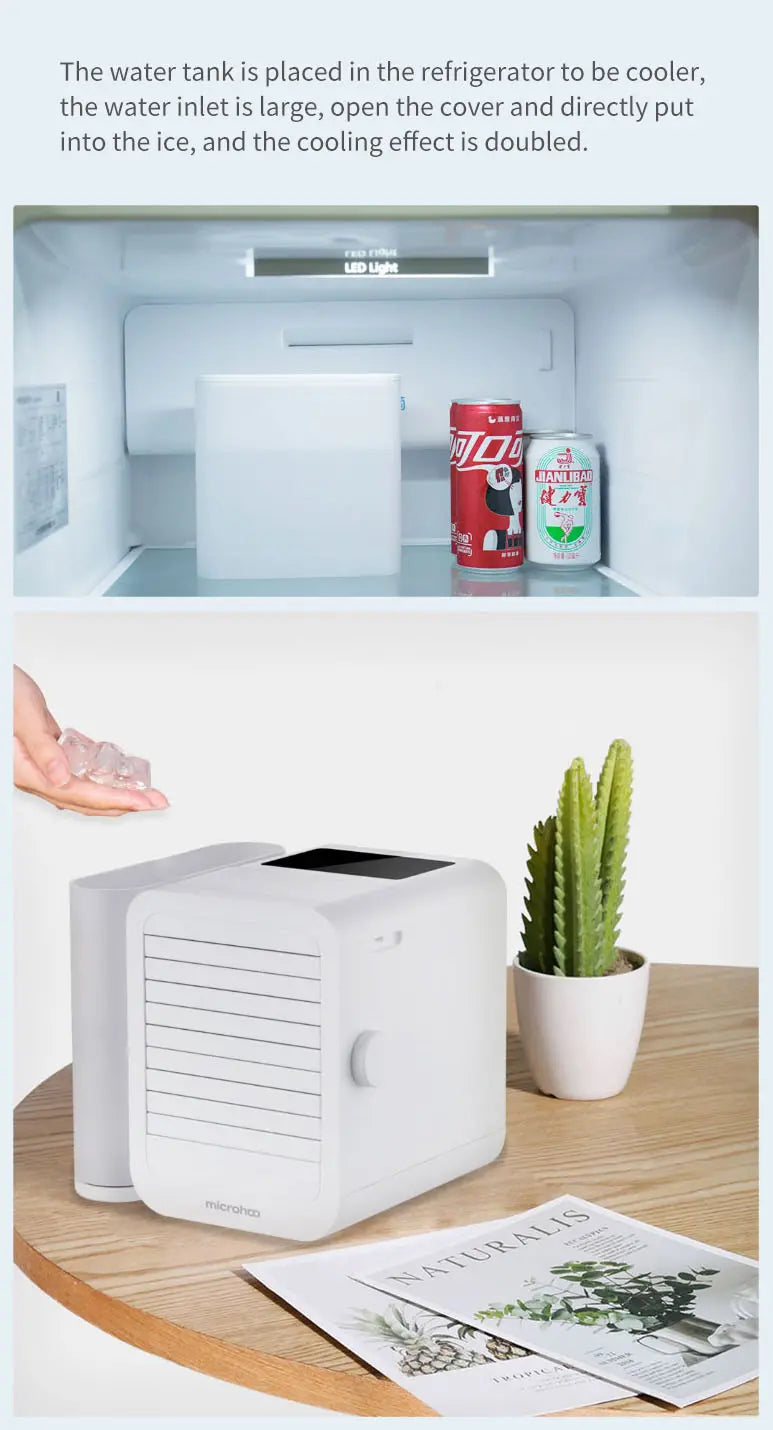 mini air cooler with ice storage