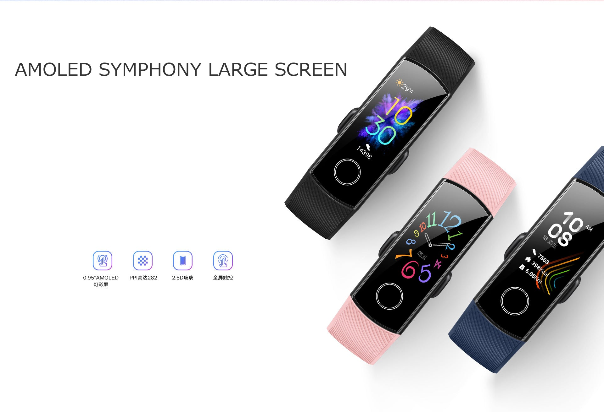 AMOLED DISPLAY HONOR BAND 5 INDIA
