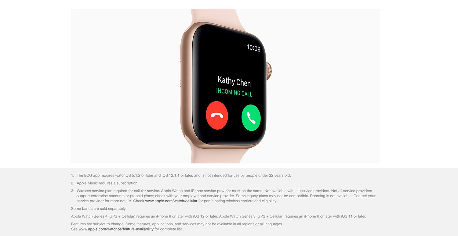 apple watch series 4 cellular india