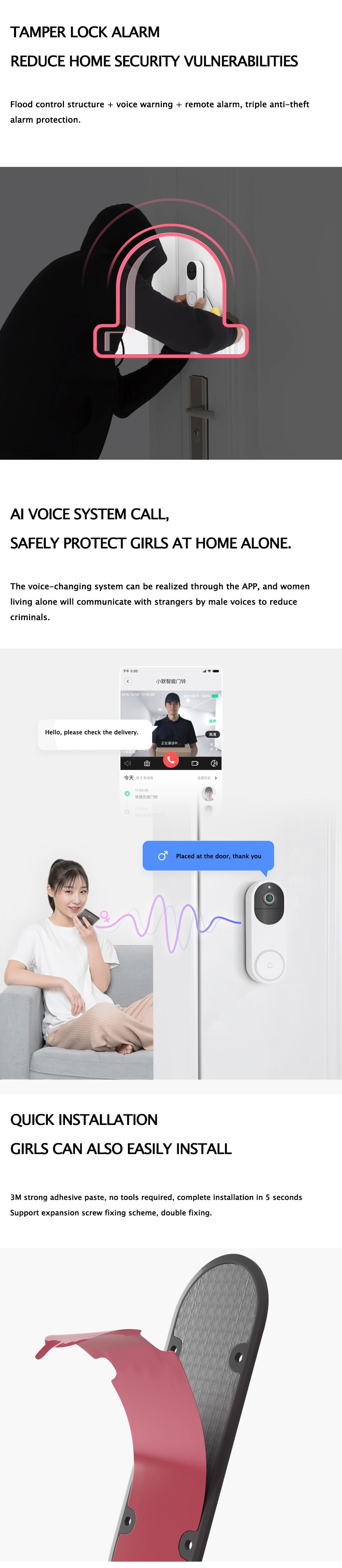 Xiaomi Intelligent Video Door Bell 1080P