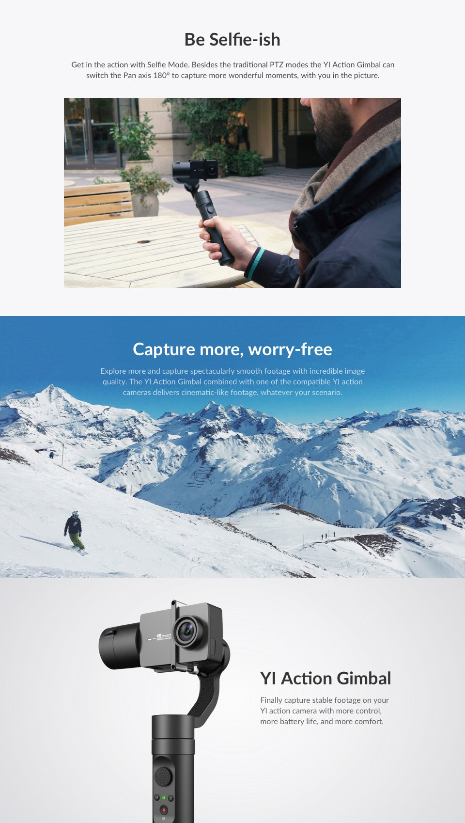 Yi Action Camera Gimbal Stabilizer India price