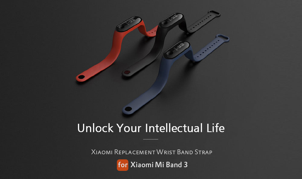 Mi band 3 original straps india red blue