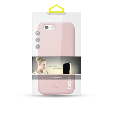 Furper iPhone 7 Selfie LED Case with Lightning Port (Pink) Packages