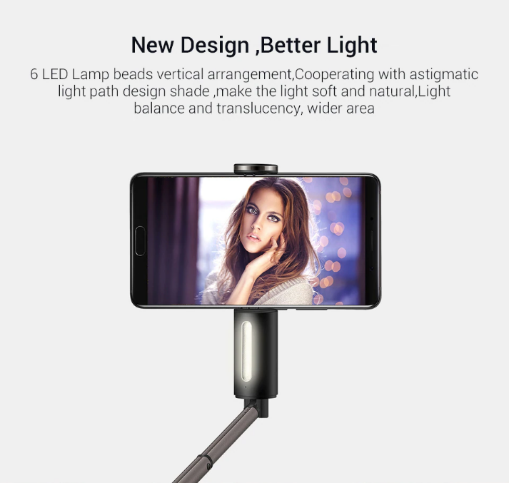 HUAWEI selfie stick with light led price