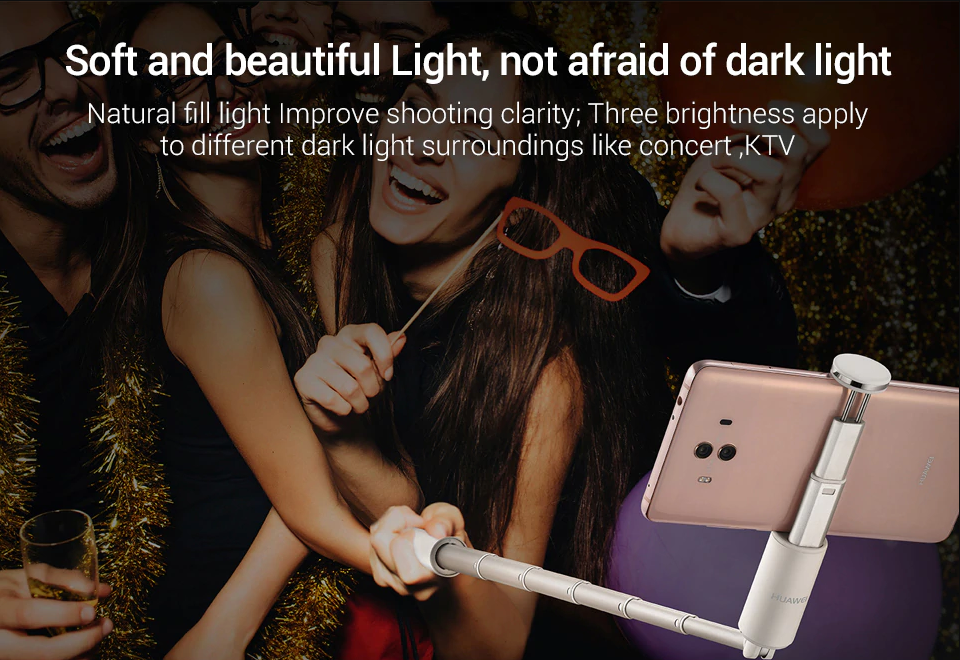 HUAWEI selfie stick with light led