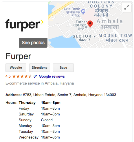 furper google reviews