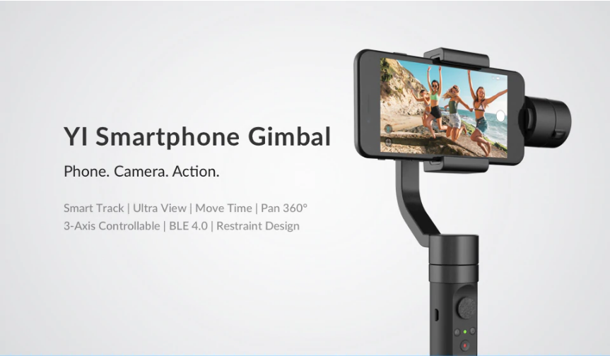 YI Smartphone Gimbal Smart track Ultra View Pan 360 degree 3-Axis India