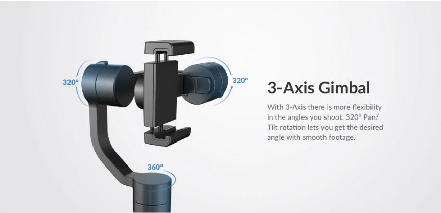 YI Smartphone Gimbal  View Pan 360 degree 3-Axis India