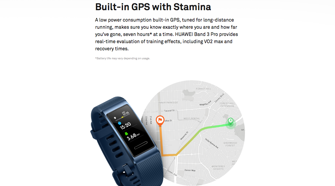 Huawei Honor Band 3 Pro GPS (Global Version) NFC India