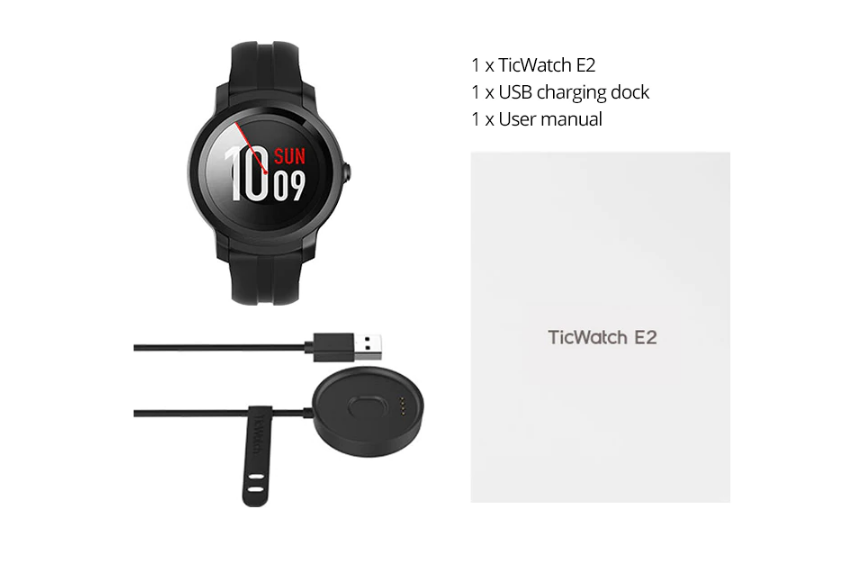 Mobvoi TicWatch E2 Smartwatch India in the box