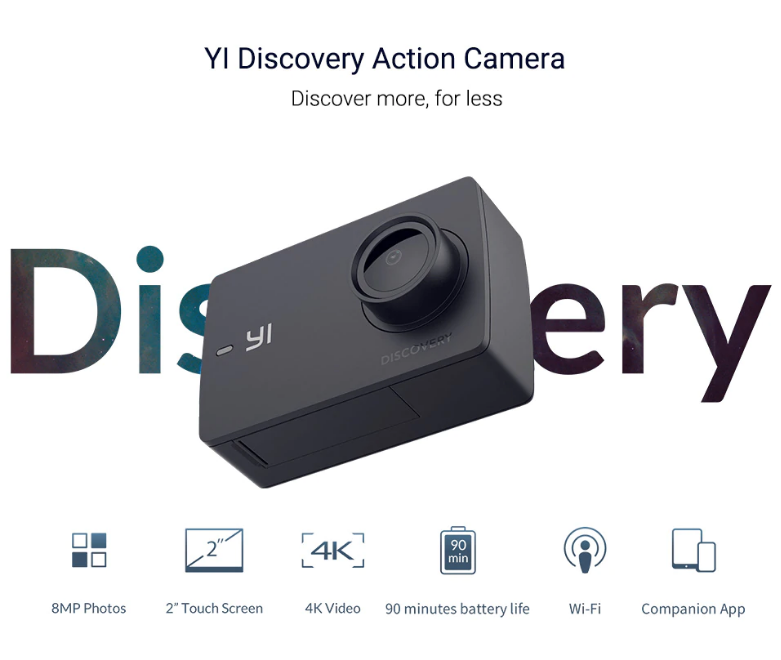 Yi discovery action camera