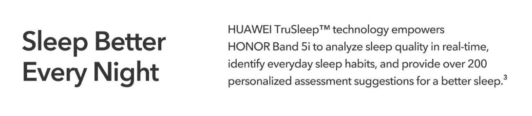 honor band 5i sleep meter