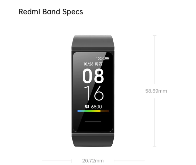Xiaomi Redmi Band Fitness Tracker (english Version)