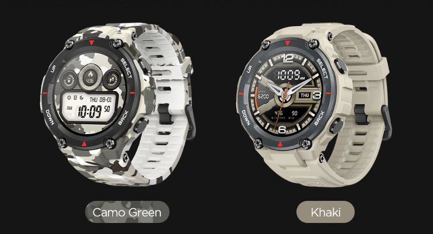 amazfit t-rex in india smartwatch GPS colors