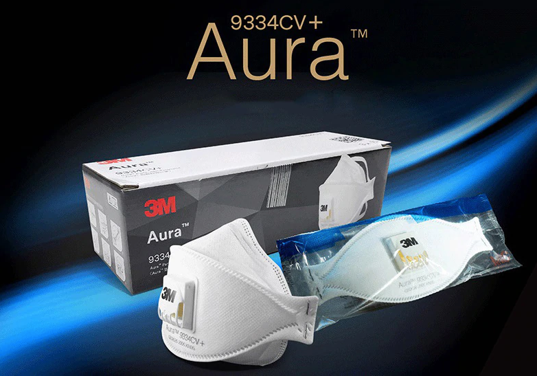 3M Aura 9334CV+ Mask In India