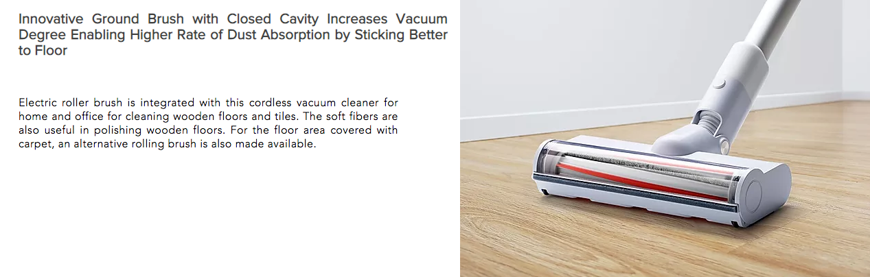 Innovative Ground Brush with Closed Cavity Increases Vacuum Degree Enabling Higher Rate of Dust Absorption by Sticking Better to Floor