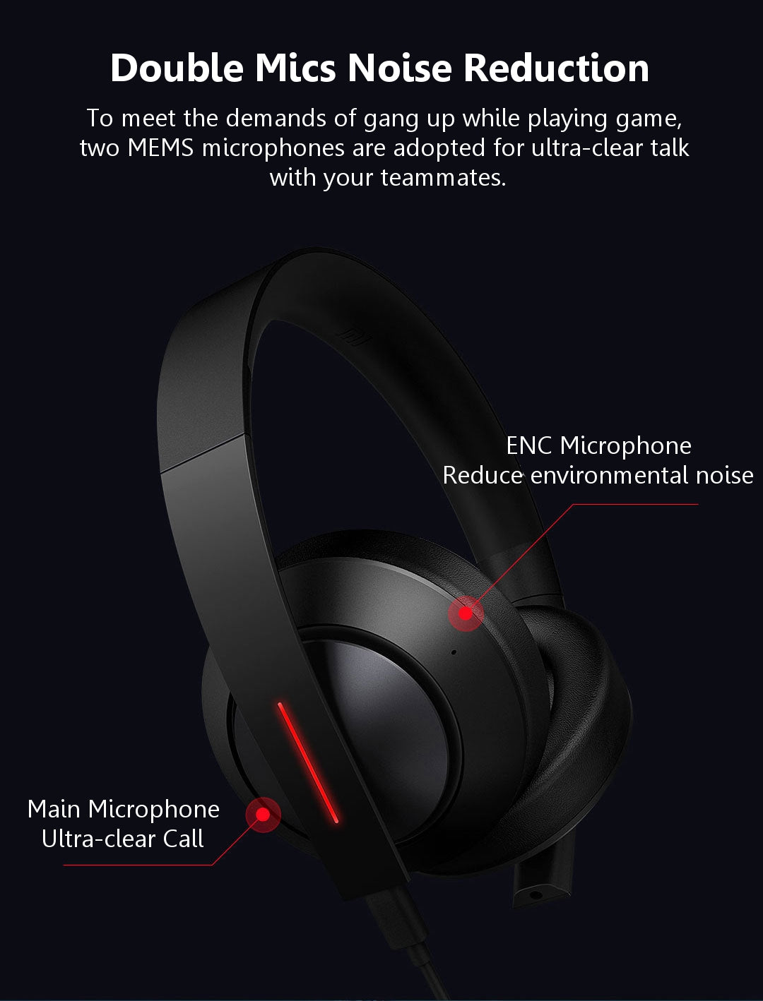 Xiaomi Mi Gaming Headset 7.1 Virtual Surround Sound