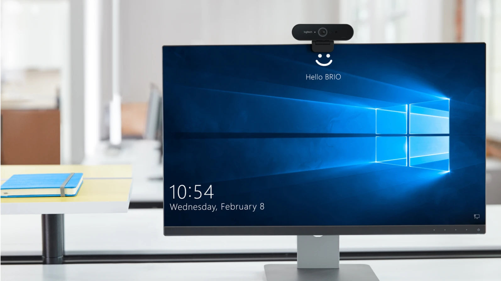 SECURITY MEETS CONVENIENCE Powered by both optical and infrared sensors, Brio delivers fast and secure facial recognition for Windows Hello. And no need to type a password for Windows 10: simply look into the Brio lens to login.
