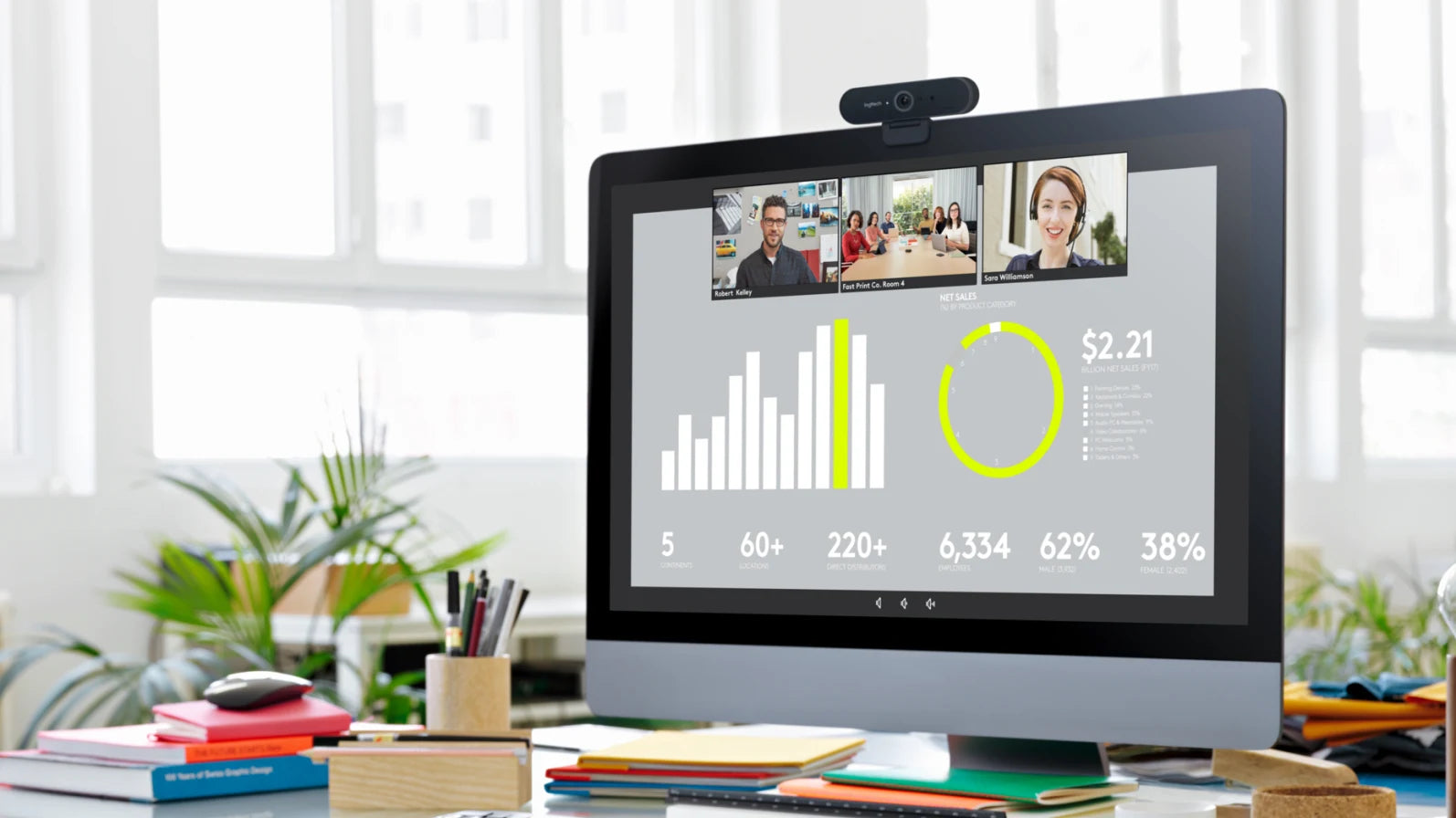 SMOOTH STREAMING, NO LAG Brio retains a high frame rate (up to 90 fps) in any lighting condition for high-quality recording, asynchronous presentation sharing with Teams, and smooth, fluid gaming broadcasts that keep up with your every move. The higher frame rates are ideal for any situation that requires slow motion or an extra-smooth, fluid video stream.