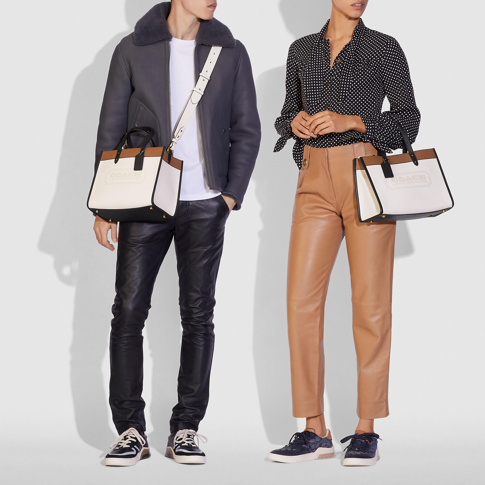 Coach Field Tote 30 Bag In Colorblock With Coach Badge