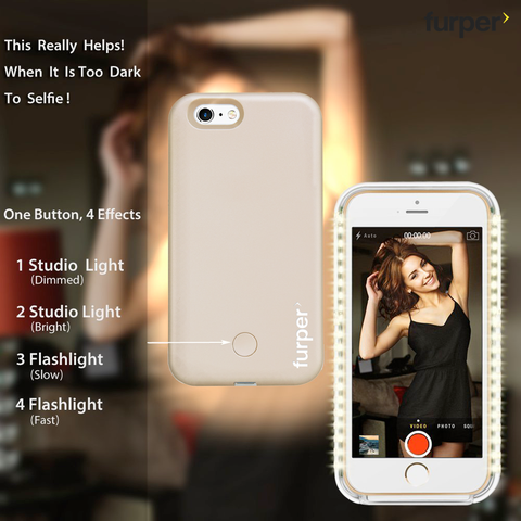 Furper Selfie Light Case For iPhone 6
