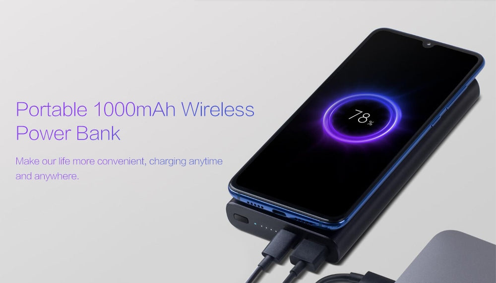 xiaomi mi wireless power bank 10000mah in india price