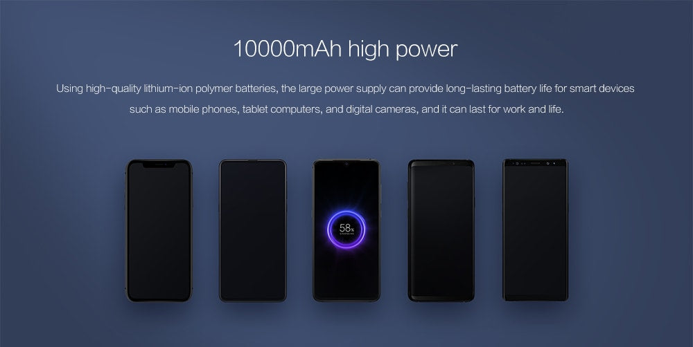 xiaomi mi wireless power bank 10000mah in india
