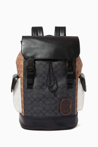 Coach Rivington Backpack in Colourblock Signature Canvas Backpack Coach