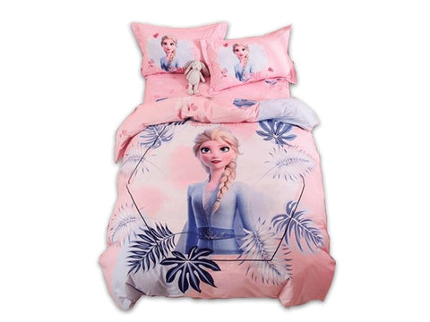 Disney Frozen Elsa Collection Pink Bedding Set with Duvet Cover Bed Sheet Bed Sheet Disney
