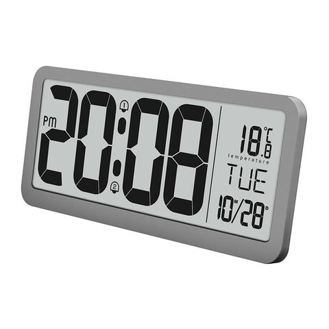 Furper modern digital multi-functional wall clock wall clock Furper.com Gray