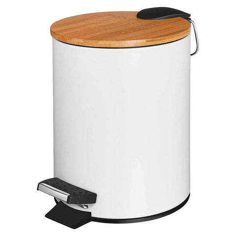 Furper Trash Bin With Inner Container & Bamboo Wooden lid Trash Bin Furper 3L
