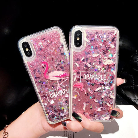 Liquid Quicksand Glitter Case For iPhone X - Furper