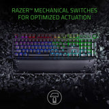 Razer BlackWidow Elite Mechanical Gaming Keyboard With Green Switches (Black) With Ergonomic Wrist Rest Gaming Keyboard Razer