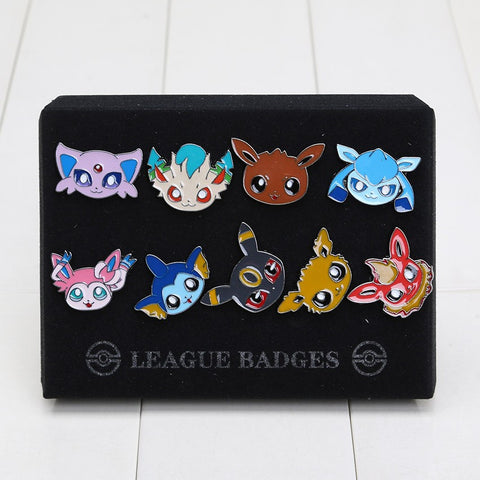 Pokemon Eevee-lution Badge Brooches
